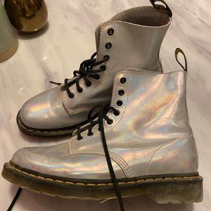 Dr. Martens Women's Pascal RS Silver Ankle Boot